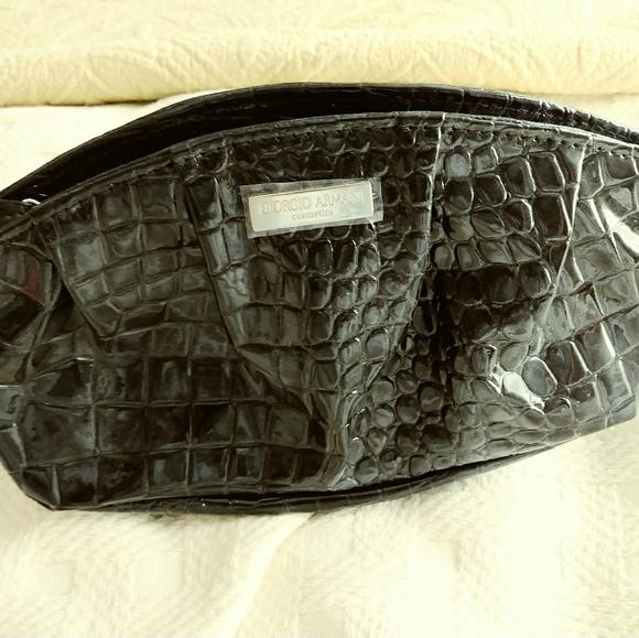 Giorgio Armani Handbags - New Giorgio Armani Black Makeup Bag